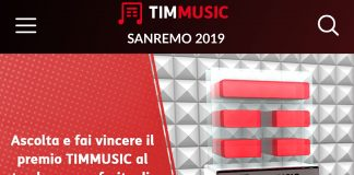 Sanremo: TIMMUSIC regala musica in streaming