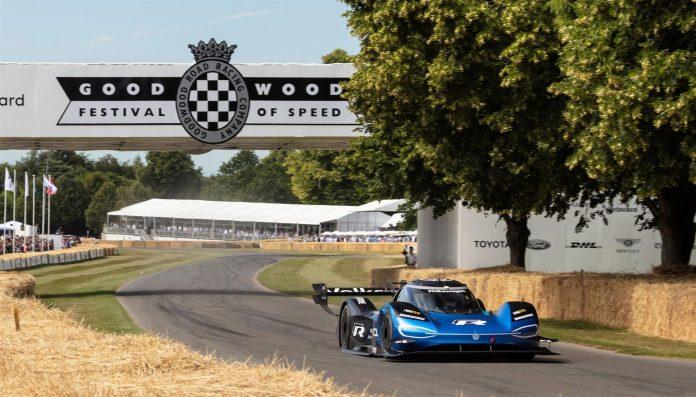 A Goodwood la Volkswagen ID.R batte una Formula 1
