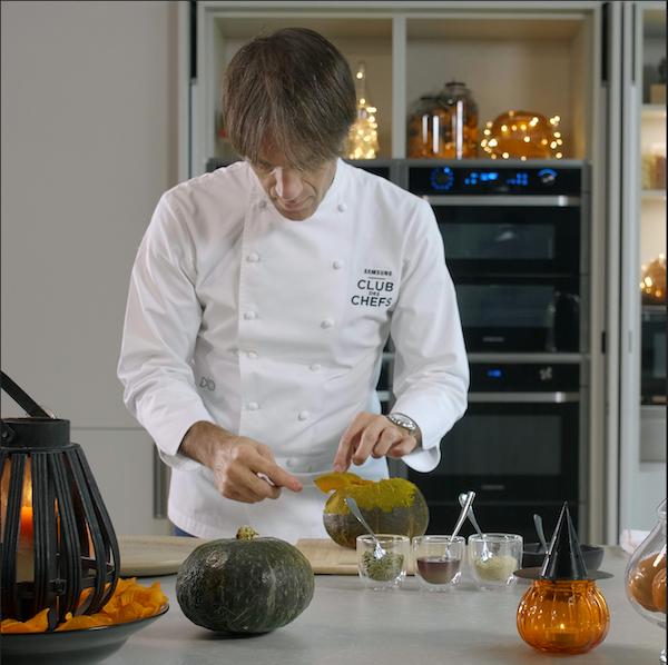 La ricetta di Davide Oldani per il menù di Halloween con Samsung Dual Cook Flex