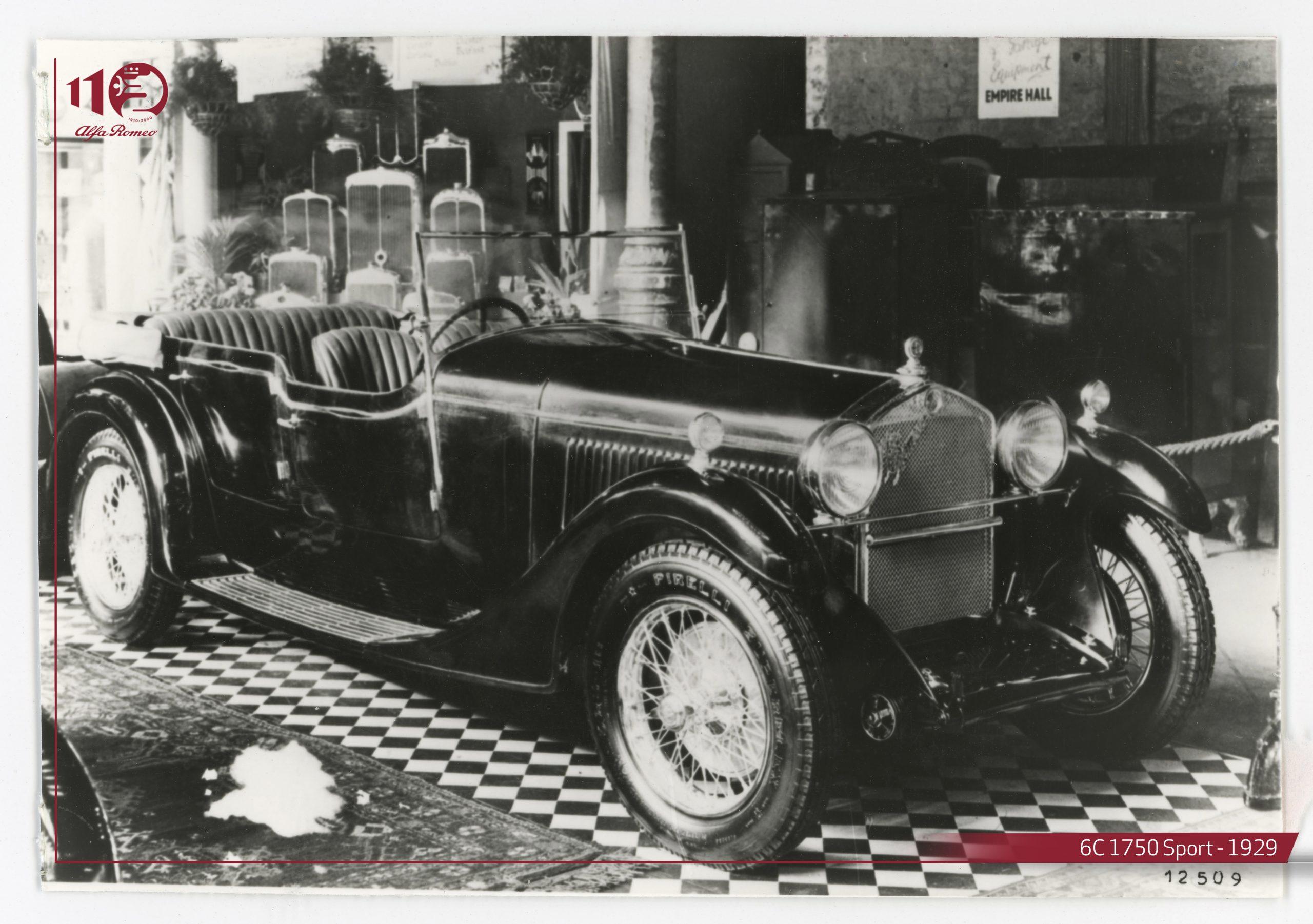 Alfa Romeo 6c Sport 1750 del 1929