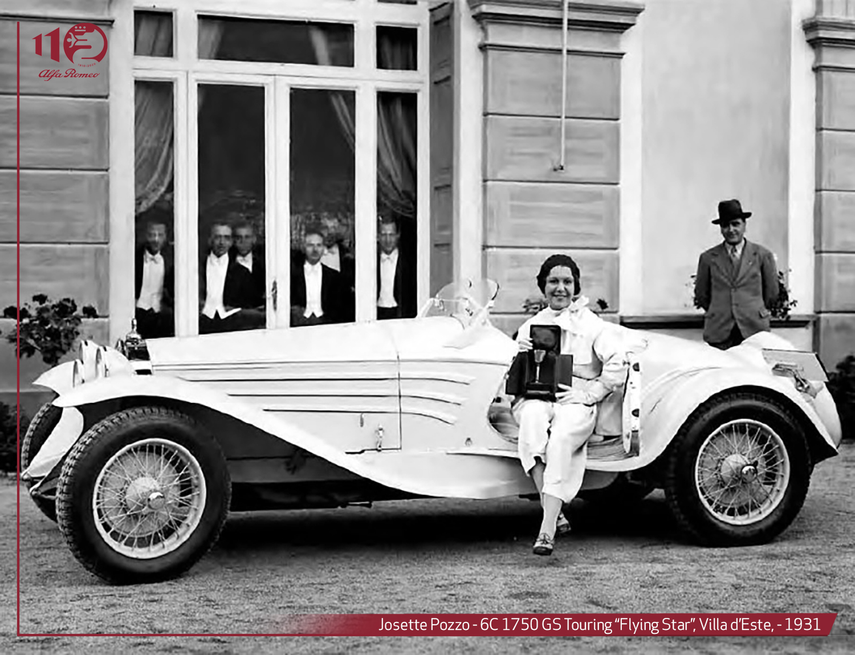 Alfa Romeo 6c Touring Flying star al concorso d'eleganza di Villa d'Este del 1931