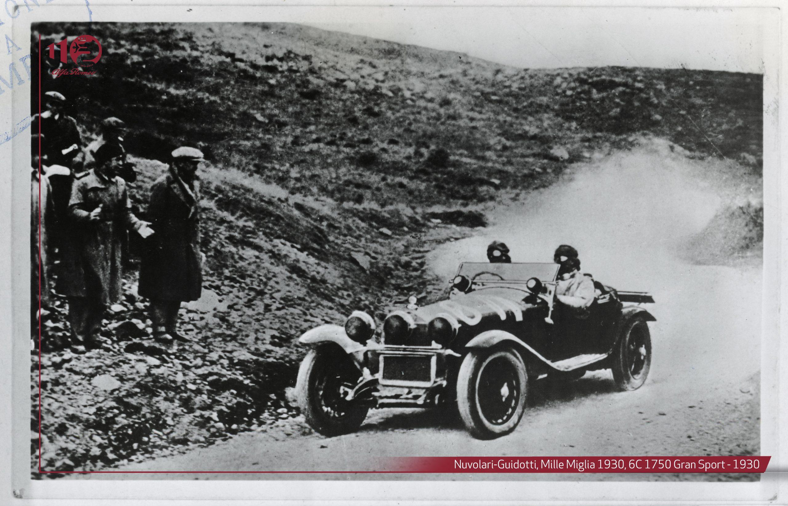 Alfa Romeo 6C equipaggio Nuvolari-Guidotti-Mille-Miglia-1930